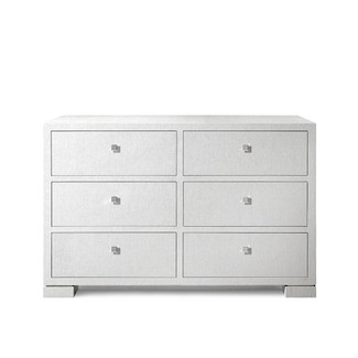 Frances Extra Large White 6-Drawer Dresser