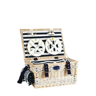 DELUXE NAUTICAL PICNIC BASKET FOR 6