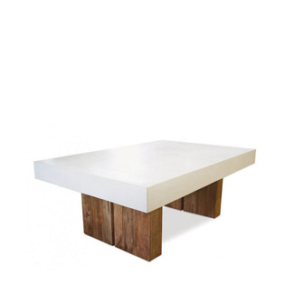 Reclaimed Teak and Concrete top coffee table - white