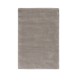 LUSTROUS STRIPED SAND VISCOSE RUG