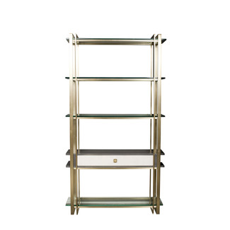 Satin Brass and Glass Etagere