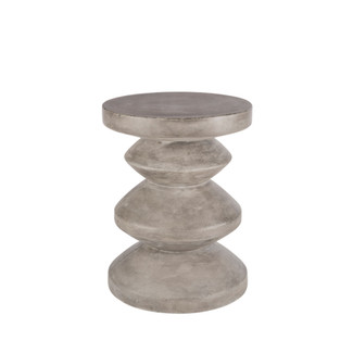 Sculpted Gray Anthracite End Table