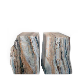 Natural Onyx Bookends