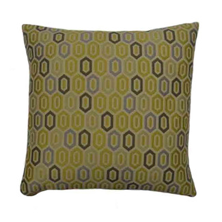 Honeycomb Pewter Throw Pillow 18 x 18