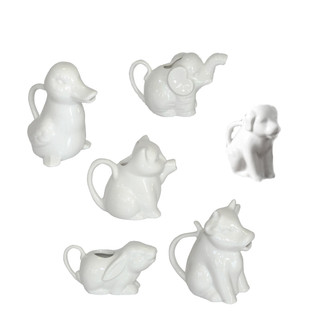 Set of Porcelain Animal Pitchers