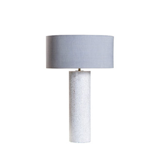 STONE COLUMNS TABLE LAMP WITH TAUPE SHADE