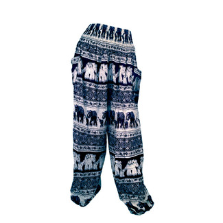 Blue Elephant Print Lounge Pants