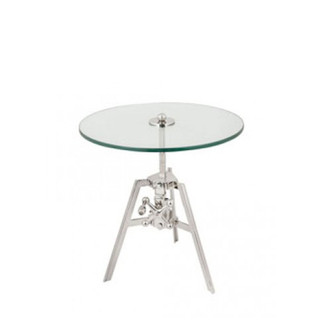 Polished Nickel Tripod Accent Table