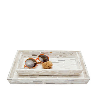 Silver Mix with Shell Trays, Set of 2