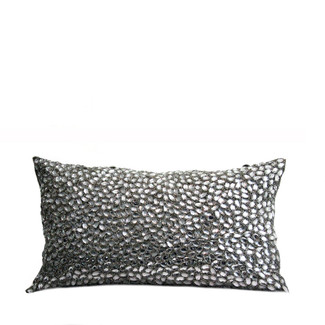Silver Clear Jewels Accent Pillow
