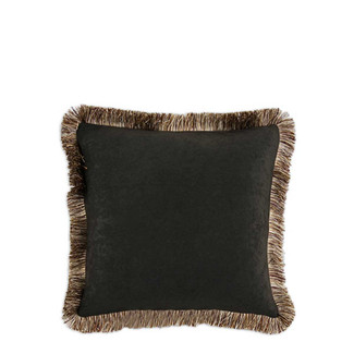Fringed Chocolate Accent Pillow