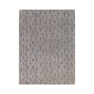 Hand-Knotted Cool Ash New Zealand Wool Rug