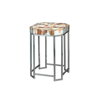 Faux Horn Octave End Table