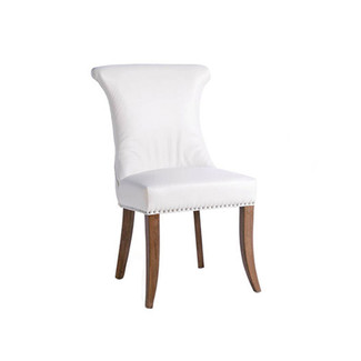 White Leather Alpine Chair