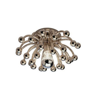 Small Polished Nickel Decorative Flushmount