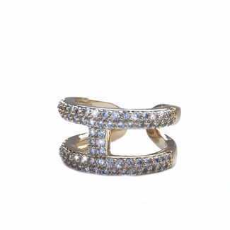 Golden Rhinestone Ring