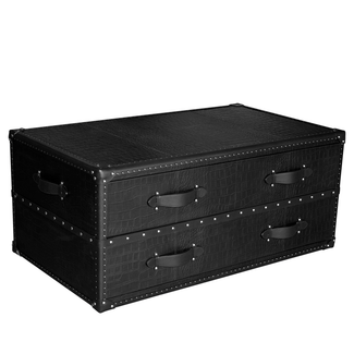 Black Croco Leather Steam Trunk