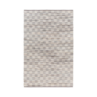 Hand Woven Gray & Ivory Hair on Hide Rug