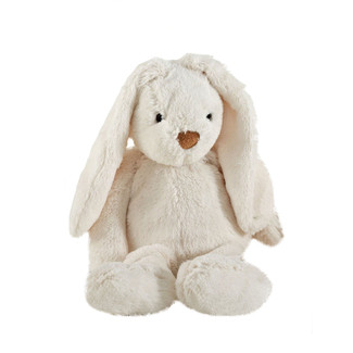 "Adorable 12"" Ivory Plush Bunny Rabbit"