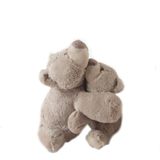 "Adorable 14"" Taupe Plush Teddy Bear"