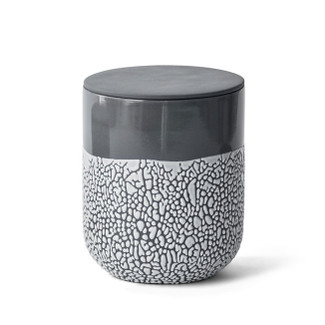 Lichen Charcoal Ceramic Textured Box - Large