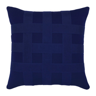 Basketweave Navy Accent Pillow