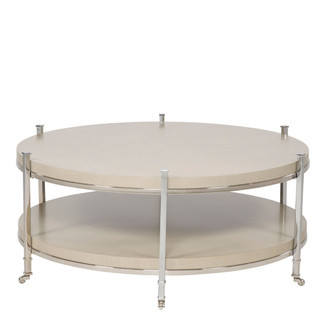 Gibson Round Cocktail Table - French Gray