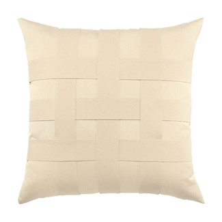 Basketweave Ivory Accent Pillow