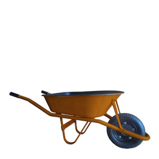 Leather Covered Wheel Barrow