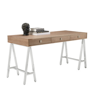 Driftwood Finish Contemporary Desk