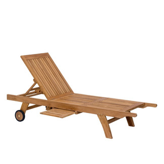 Unfinished Teak Spa Chaise