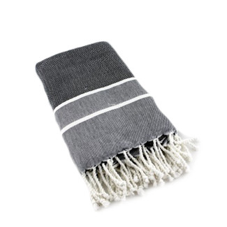 Black & White Herringbone Fouta Bath Towel