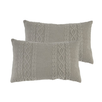 Home Cable Knit Accent Pillows 22 x 14- Set of 2