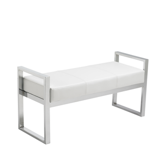 Darby Faux Leather Upholstered Bench