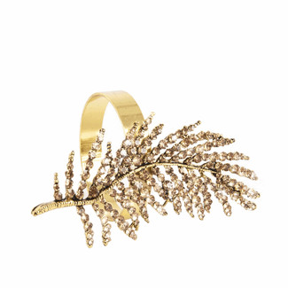 Beaded Leaf Napkin Ring