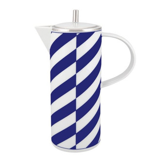 Cobalt Blue and White Coffee Pot