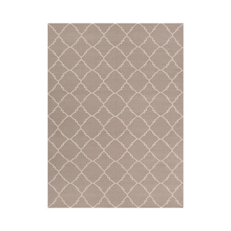 Taupe Flat Weave Area Rug