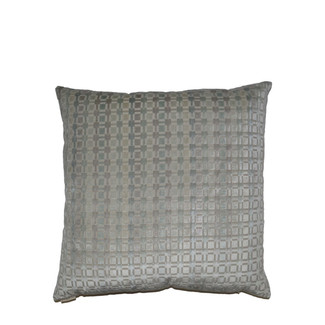 Silver Square Pattern Accent Pillow 24x24