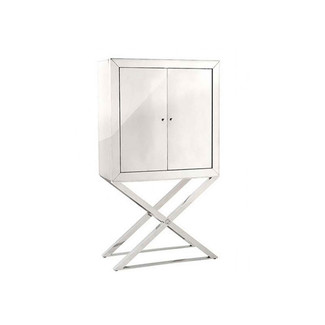 Polished Stainless Steel X-Base Cabinet