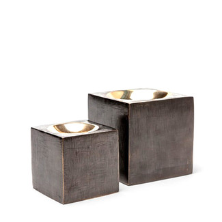 Brushed Metal & Brass Paperweights