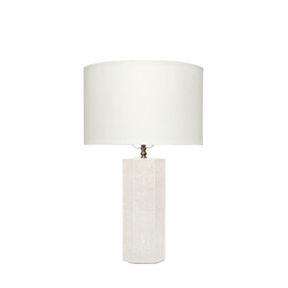 Ivory Faux Shagreen Octagon Table Lamp