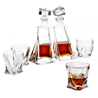 Twist Decanter Set- Set of 6