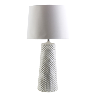 WESLEY WHITE CERAMIC TABLE LAMP