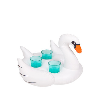 Inflatable Swan Drink Holder