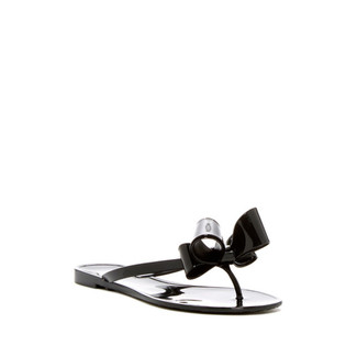 Bow Jelly Sandal Black
