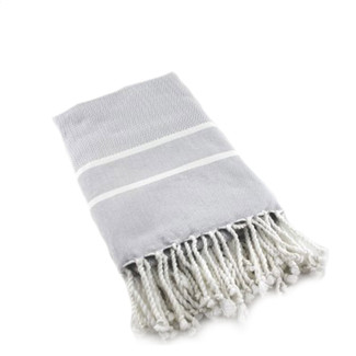 GREY & WHITE HERRINGBONE FOUTA BATH TOWEL