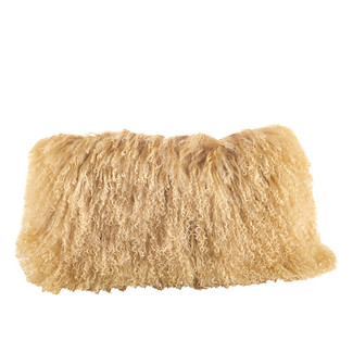 Oblong Mongolian Fur Pillow 12x20