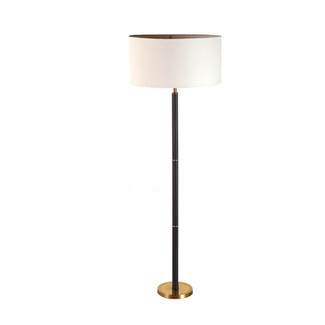 Andover Black Leather Floor Lamp