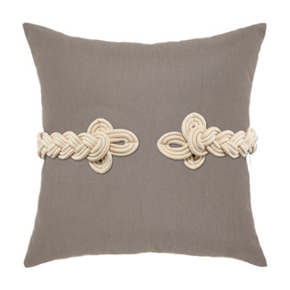 Taupe Frog's Clasp Accent Pillow