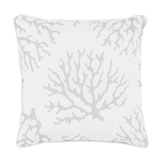 Gray Coral Accent Pillow